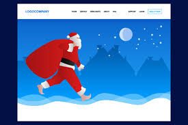 Christmas Concept Of Header Web Design For Landing Page Graphic By Mrbrahmana Creative Fabrica