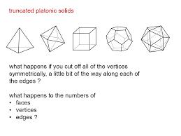Truncated Solids Chart Median Don Steward Mathematics Teaching 3d Geometry