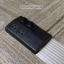 connectrac incarpet onfloor voice and data raceway connectrac incarpet duplex