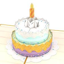 Amazoncom Lovepop Happy Birthday Cake Pop Up Card 3d Card