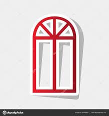 Einfaches Zeichen Fenster Vektor Neue Jahr Rötlichen Symbol Mit