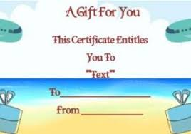 Cruise Gift Certificate Template Travel Certificate Template 11 Travel Gift Certificate
