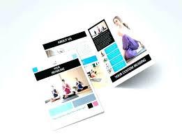 4 Fold Brochure Template Tri Word Mac Z Foldable
