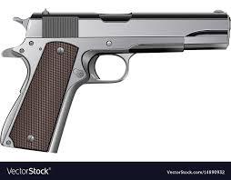 Colt M1911 Pistol Isolated On White