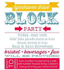 Neighborhood Party Invitation Wording Block Party Invitation Wording Entown Posters
