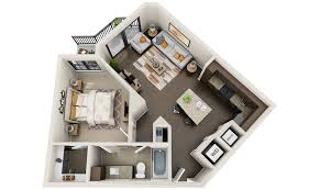 D Floor Plans D Floor Plan Design Interactive D Floor Plan - Studio apartment floor plans 3d