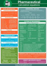 Pharmacy Technician Formula Chart Pharmaceutical Calculations Equation Sheet Is Here To Help