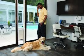 pet ready exterior doors large dog door for sliding glass door sliding screen door with dog