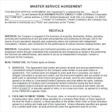 Consulting Services Agreement Template Master Service Doc ...