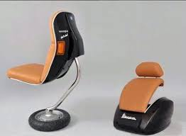 recycled vespa office chairs. though we have seen many kinds of recycled furniture in the past to agree that conversion these unfashionable twowheelers into everyday use vespa office chairs y