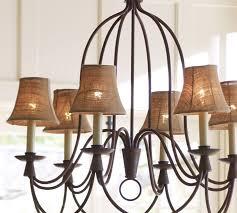 astounding mini chandelier shades mini shades burlap sacks and iron and candles lit