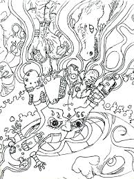 Trippy Coloring Books P4887 Coloring Page Extraordinary Design Free
