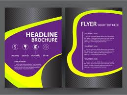 Brochure Graphic Design Background Brochure Flyer Design With Dark Violet Background Vectors