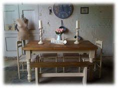 shabby chic dining table chairs and bench. bespoke 5ft shabby chic farmhouse solid pine dining table and 4 chairs \u0026 1 bench l