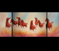 feng shui art for office. Feng Shui Horse Painting Modern Wall Art Decor For Office