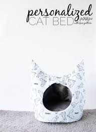diy cat bed with free sewing pattern free cat bed sewing pattern how to