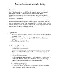 argumentative essay the outsiders prompt outline johnny tremain character essay