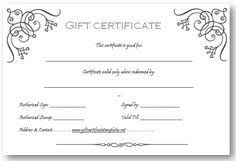 Custom Gift Certificate Templates Free 9 Best Gift Cert Images Gift Certificate Template