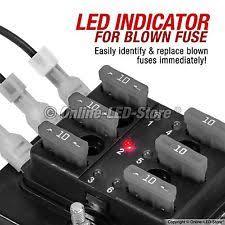 6 fuse block mictuning led illuminated 6 way fuse block holder box automotive blade cover car