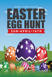 easter egg hunt template easter egg hunt flyer template design stock vector illustration of
