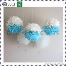 Hanging Pom Pom Decorations Diy Hanging Paper Flower Pom Poms For Wedding Party Decoration