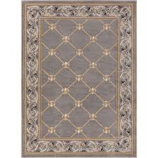 well woven timeless fleur de lis gray 8 ft x 11 ft traditional area rug 36287 the home depot