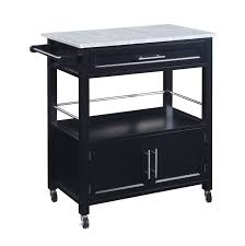 White Kitchen Cart With Granite Top Linon Cameron Kitchen Cart With Granite Top 464809blk01u