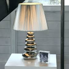 silver base table lamp good silver lamp with black shade or silver
