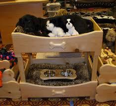 image of dog bunk beds large
