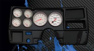 carbon fiber panels fast lane west dash panels gauge wiring 73 87 chevy truck cf dash w ultra lite gauges
