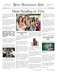School Newspaper Template Newspaper Templates for Students 1