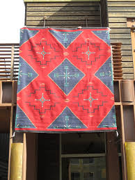 Chief Revival Blanket Navajo Rug by Priscilla Warren - Very Large Size -  Two Grey Hills