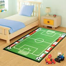 kids childrens football pitch rugs rug mat in modern design for play mat