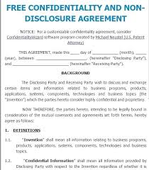 Short Form Non Disclosure Agreement Lovely Cool Template S Example ...