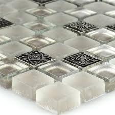 Mosaikfliese Glas Naturstein Ornament Champagne - TM33047m