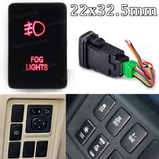 2008 Toyota Sequoia Fog Lights Details About Red Led Fog Lights Push Switch For Toyota Sequoia 4runner Tundra 2008 2016 Rav4