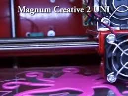 Печать на 3d принтере <b>Magnum Creative 2</b> - YouTube