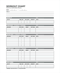 Exercise Log Book Template Weight Training Workout Journal
