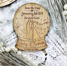 Winter Wedding Save The Date Magnet Save The Date Wooden Save The Date Rustic Save The Date
