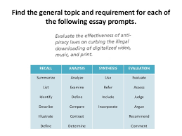 understanding essay prompts taking a position and asking research q   recommend comment 5 the general topic