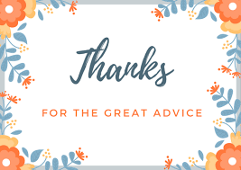 Advice Thank You Note Wording For School Counselor