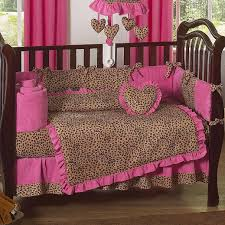 gorgeous baby nursery room decoration using pink leopard crib bedding comely girl baby nursery room
