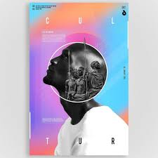 2 Color Poster Design African Male Poster Art Modern Contemporary Design Poster