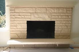restoring a painted stone fireplace