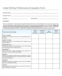 Performance Review Template Simple Employee Performance Review