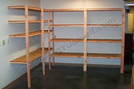 finished garage shelves