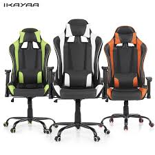 office bucket chair. ikayaa ergonomic racing style gaming office chair swivel executive computer bucket seat for home us
