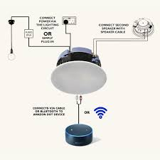 lithe audio bluetooth ceiling speaker echo connection
