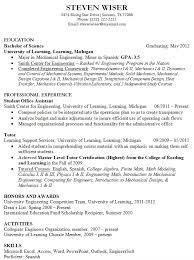 Sample Resume For Fresh Graduate Engineering