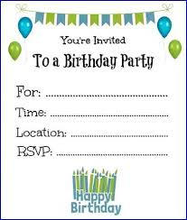 Boy Birthday Party Invitation Templates Free Free Printable Birthday Invitations Templates Myspar Info